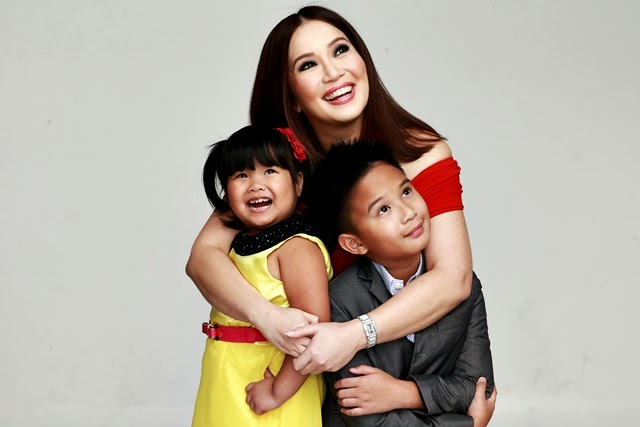 Kris Aquino, Ryzza Mae Dizon and James Bimby Aquino