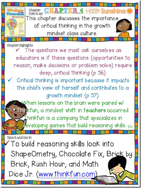 critical thinking chapter 4