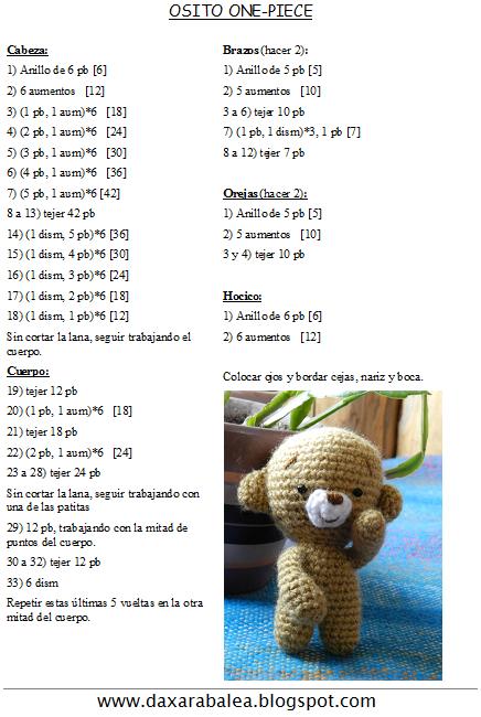 Amigurumis Kawaii Patrones Gratis : Patrones osos amigurumis
