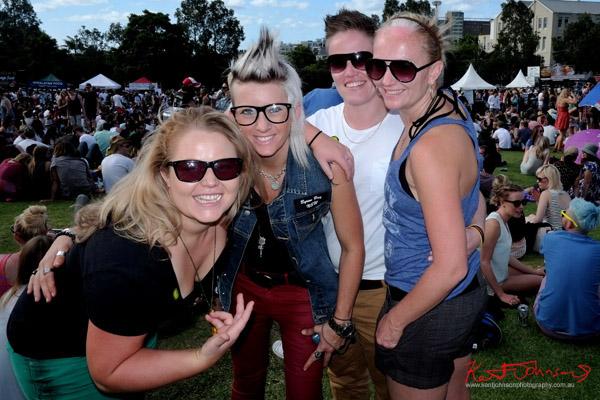 Four girls, Gurrll style, Newtown Festival, Fujifilm X-Pro1