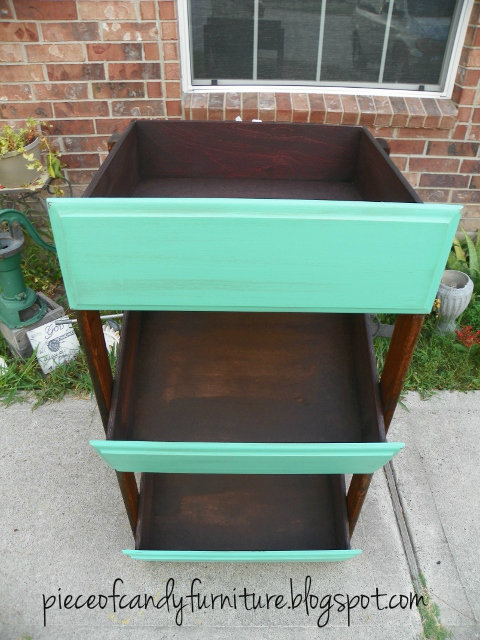 Piece Of Candy Furniture Repurposed Drawers Made Into Shelf