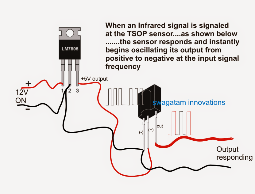how to connect a tsop1738 ir sensor