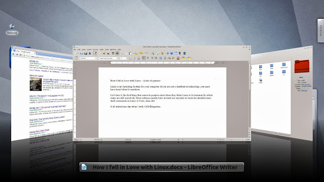 Linux Mint KDE Plasma Desktop with alt tab interface