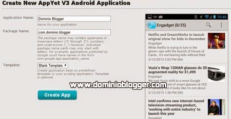 Crea aplicaciones para Android en Appyet