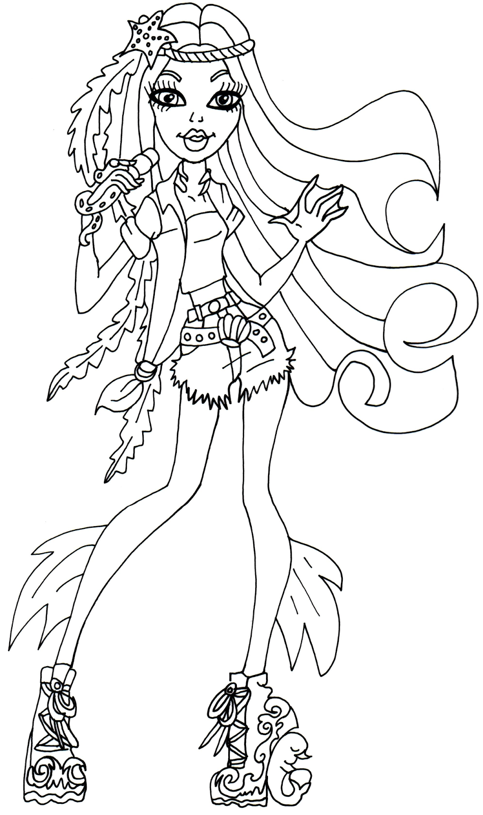 Monster high printable color pages for Print monster high coloring pages