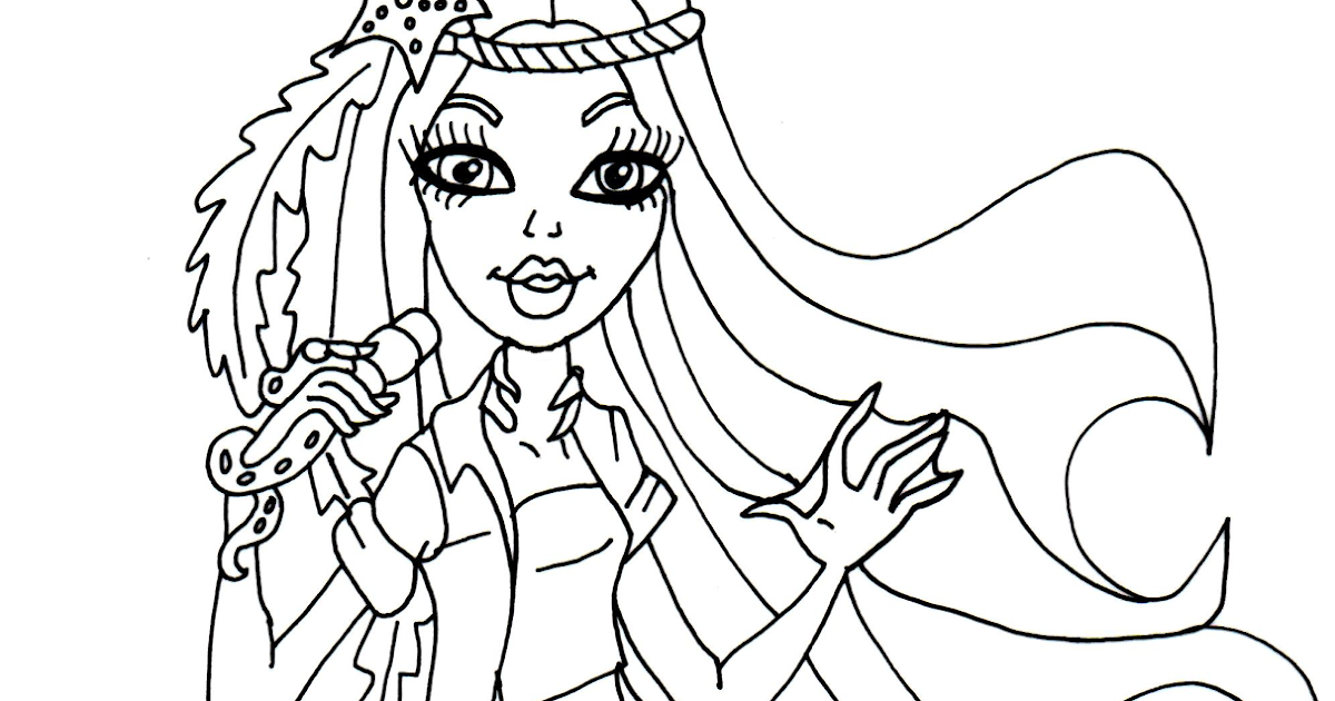 free printable monster high coloring pages madison fear monster high coloring page