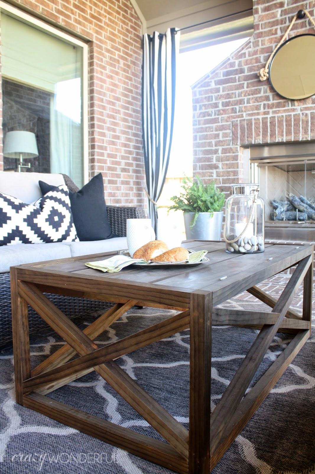 Diy outdoor coffee table with storage crazy wonderful for Diy coffee table with storage