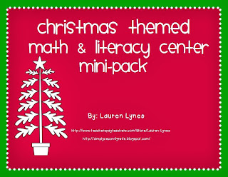 http://www.teacherspayteachers.com/Product/Christmas-Centers-Mini-Pack-2-Literacy-2-Math-Centers-416891