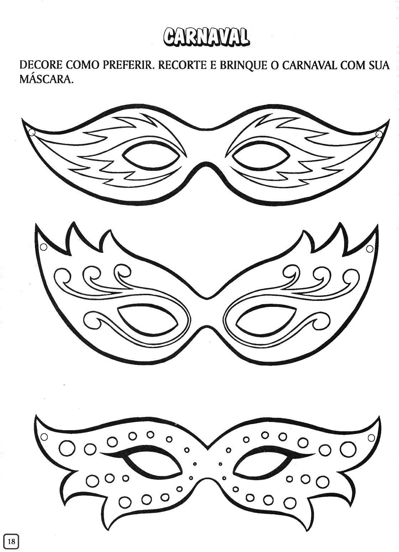 Mascaras Carnaval Colorear   Dibujos Para Colorear   IMAGIXS