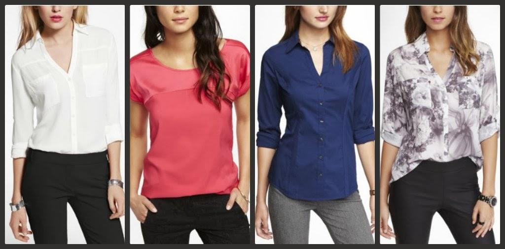 Express blouse, shirt, top, portofino, essential shirt