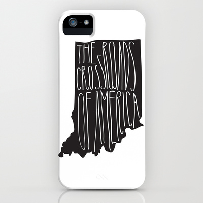 Indiana iPhone cover crossroads of america