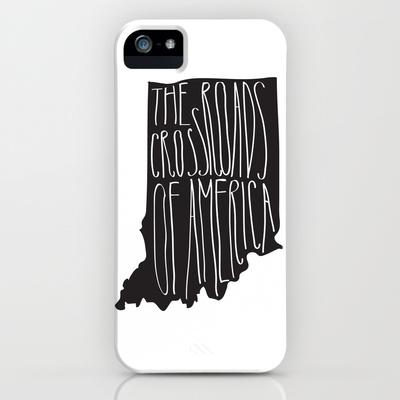 Indiana iPhone cover crossroads of america