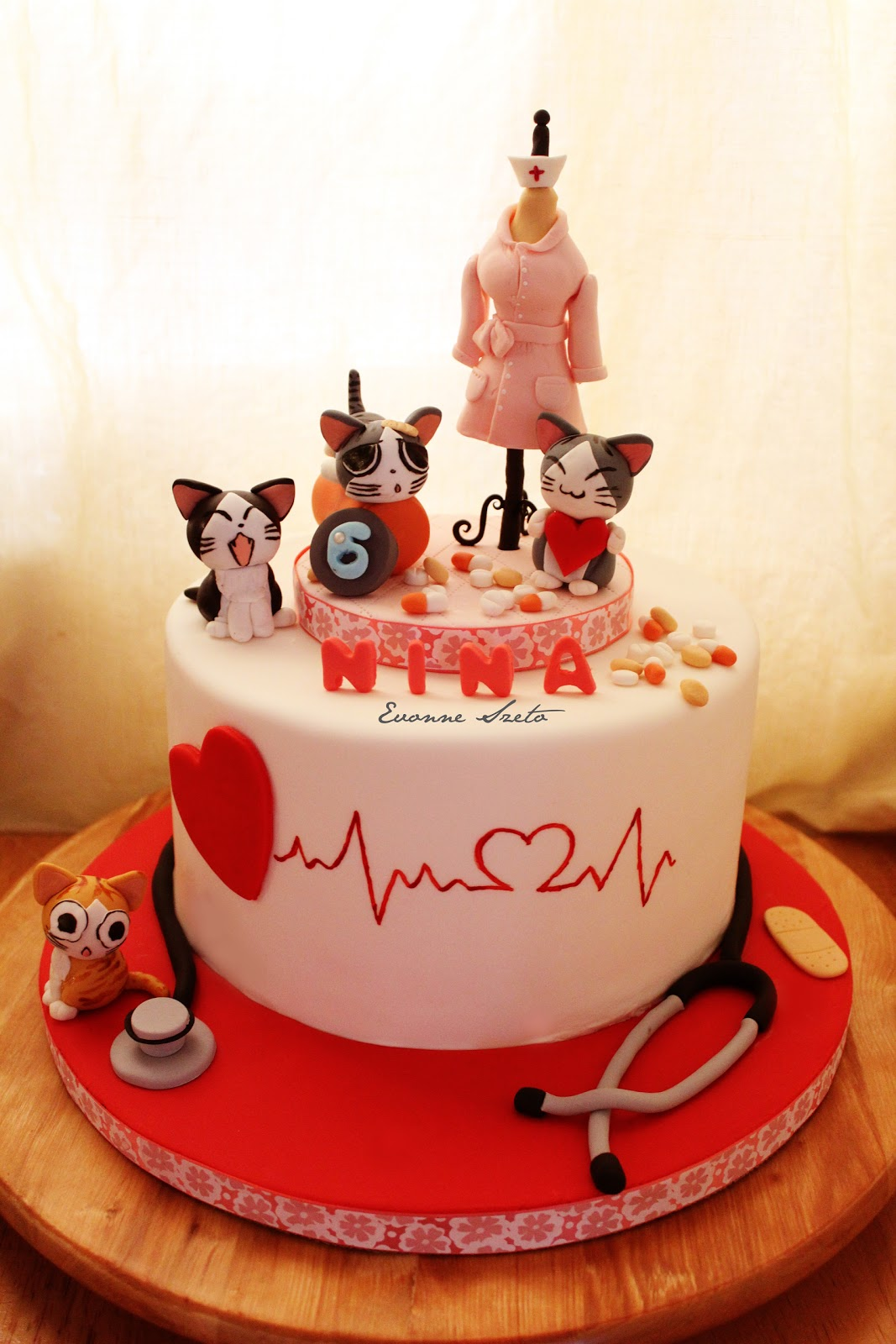 sweet from the heart Nursing Cats Cake Panda Cake