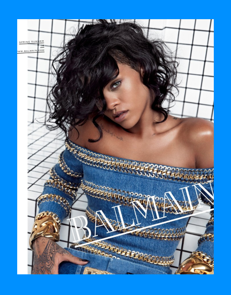 Rihanna for Balamin Spring/Summer 2014 Campaign by Inez & Vinoodh