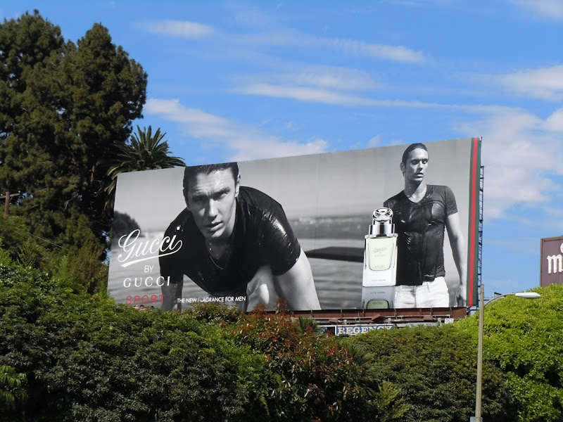 James Franco Gucci fragrance billboard