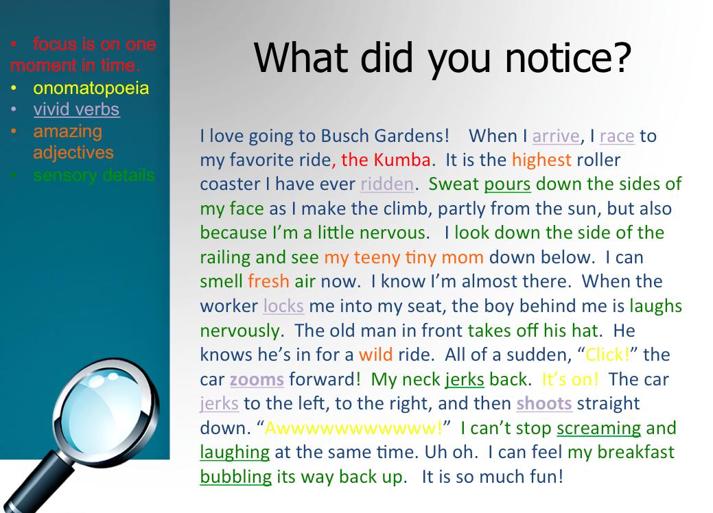 narrative essay checklist