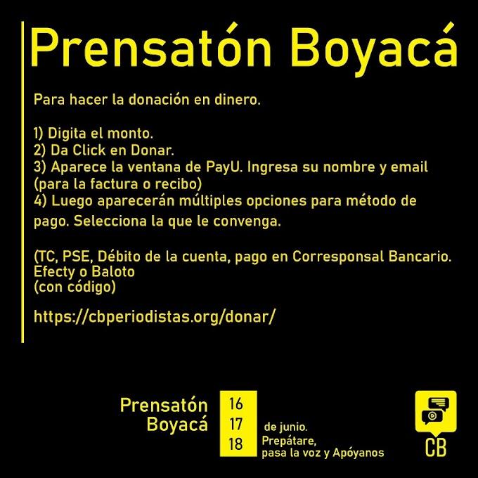 #PrensatónBoyacá: Periodistasde Boyacá llaman a la solidaridad por pandemia de Covid-19