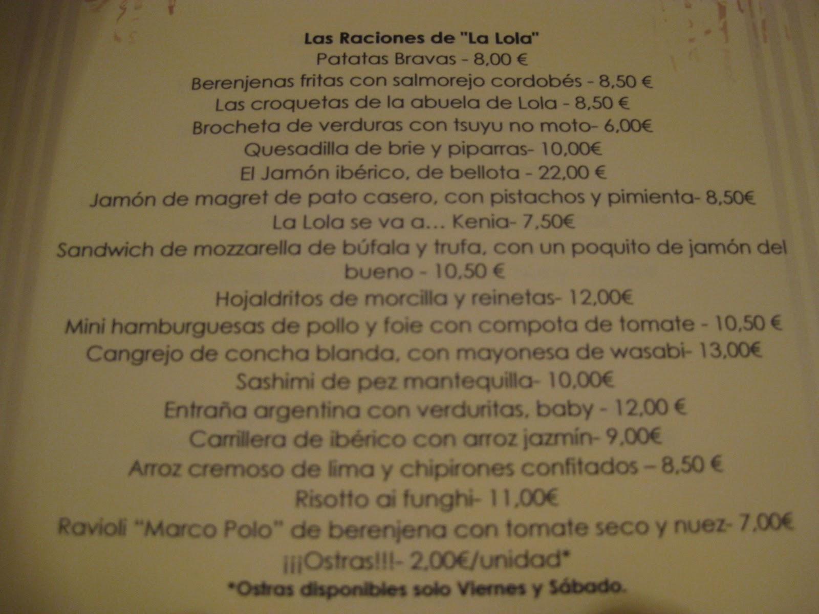 Restaurantes en madrid cr ticas y reportajes en el blog - Ole mi lola albacete ...