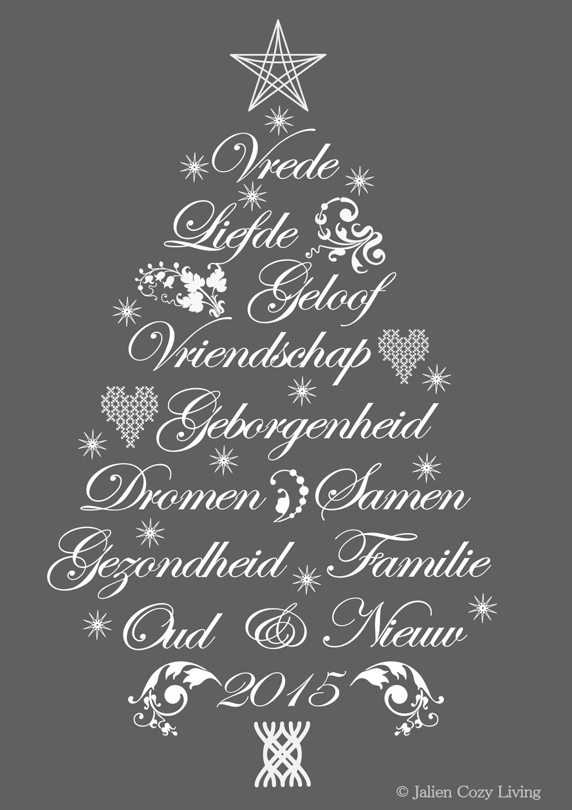 Kerst kaart Jalien Cozy Living 2015
