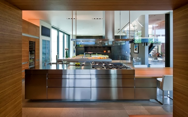 Kitchen in Multimillion modern dream home in Las Vegas