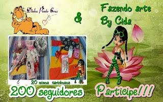 Sorteio 200 seguidores Dinha Ponto Cruz e Fazendo Arte by Cida