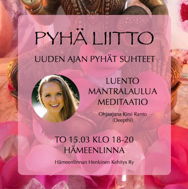 PYHÄ LIITTO -LUENTO HÄMEENLINNASSA 15.03