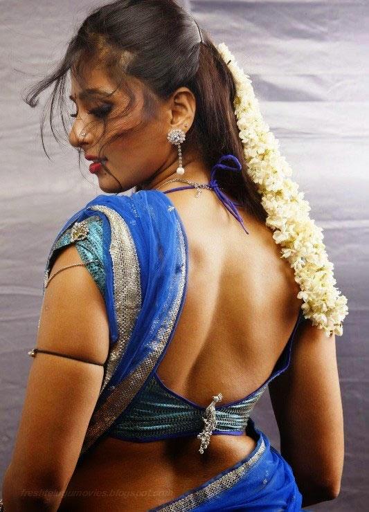 Anushka shetty hot movie scene blue saree heroin wallpaper