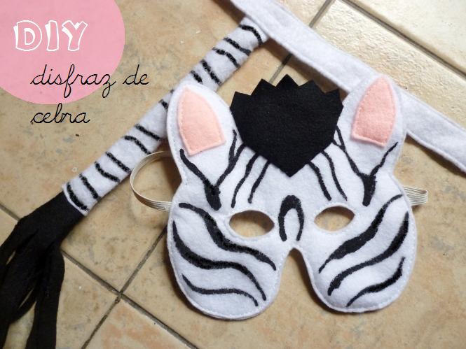 manitas de gato: diy: disfraz de cebra para niños