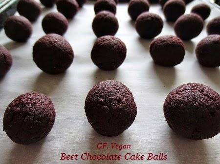 ... Vegan, Gluten Free Chocolate Beet Cake Balls (+MeatlessMonday