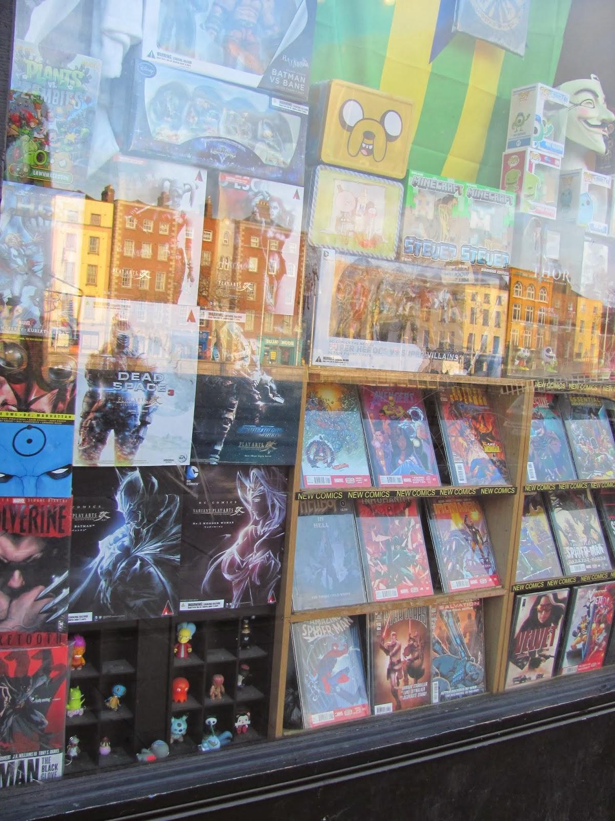 Forbidden Planet Comic Shop display window