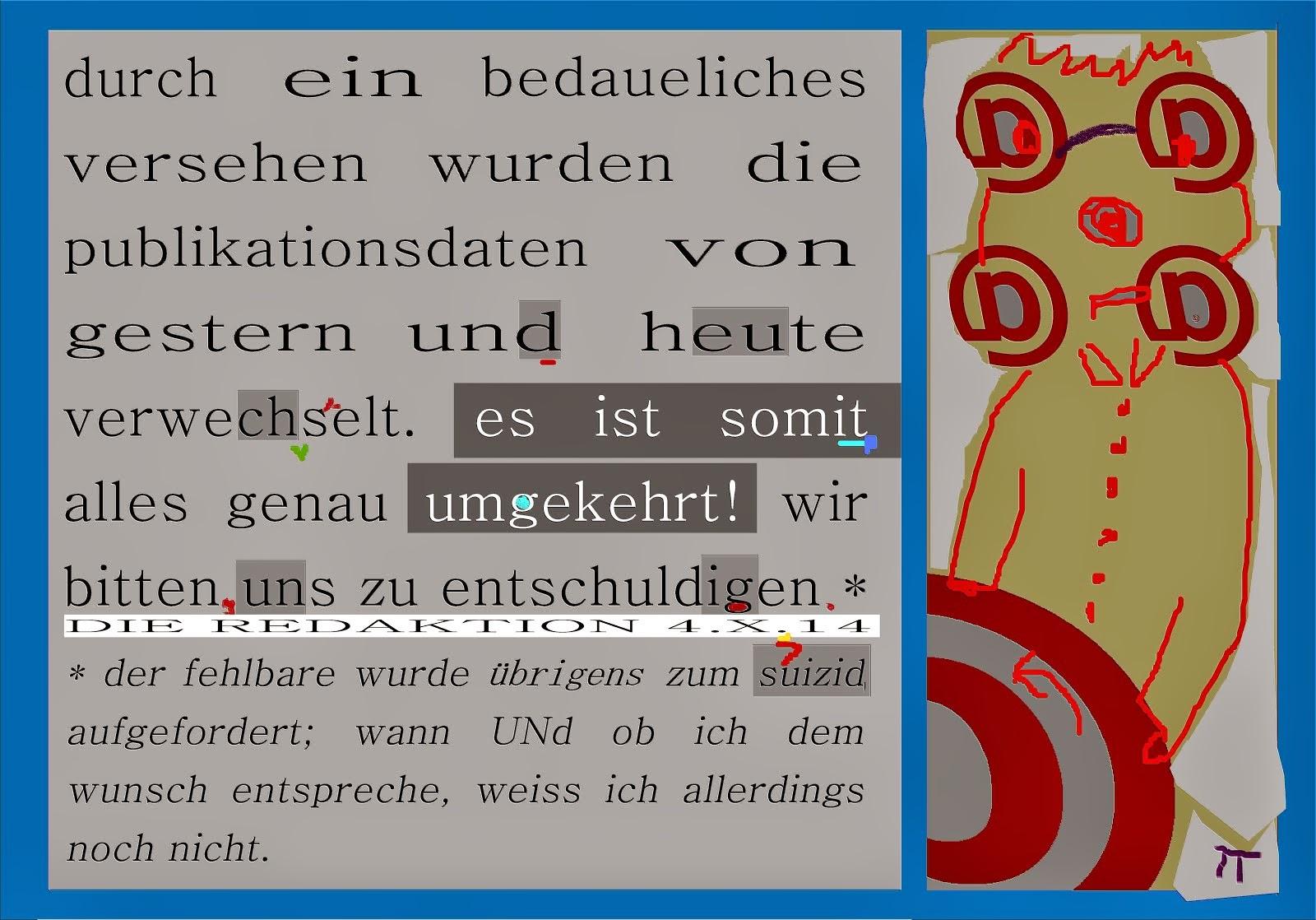 berichtigung korrektur DGR TMR LRM humor bp gauck suizidaufforderung DE