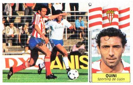 Cromo De Quini 1986 1987 Sporting De Gij 243 N