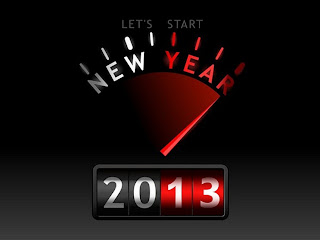 Happy New Year 2013 speed meter