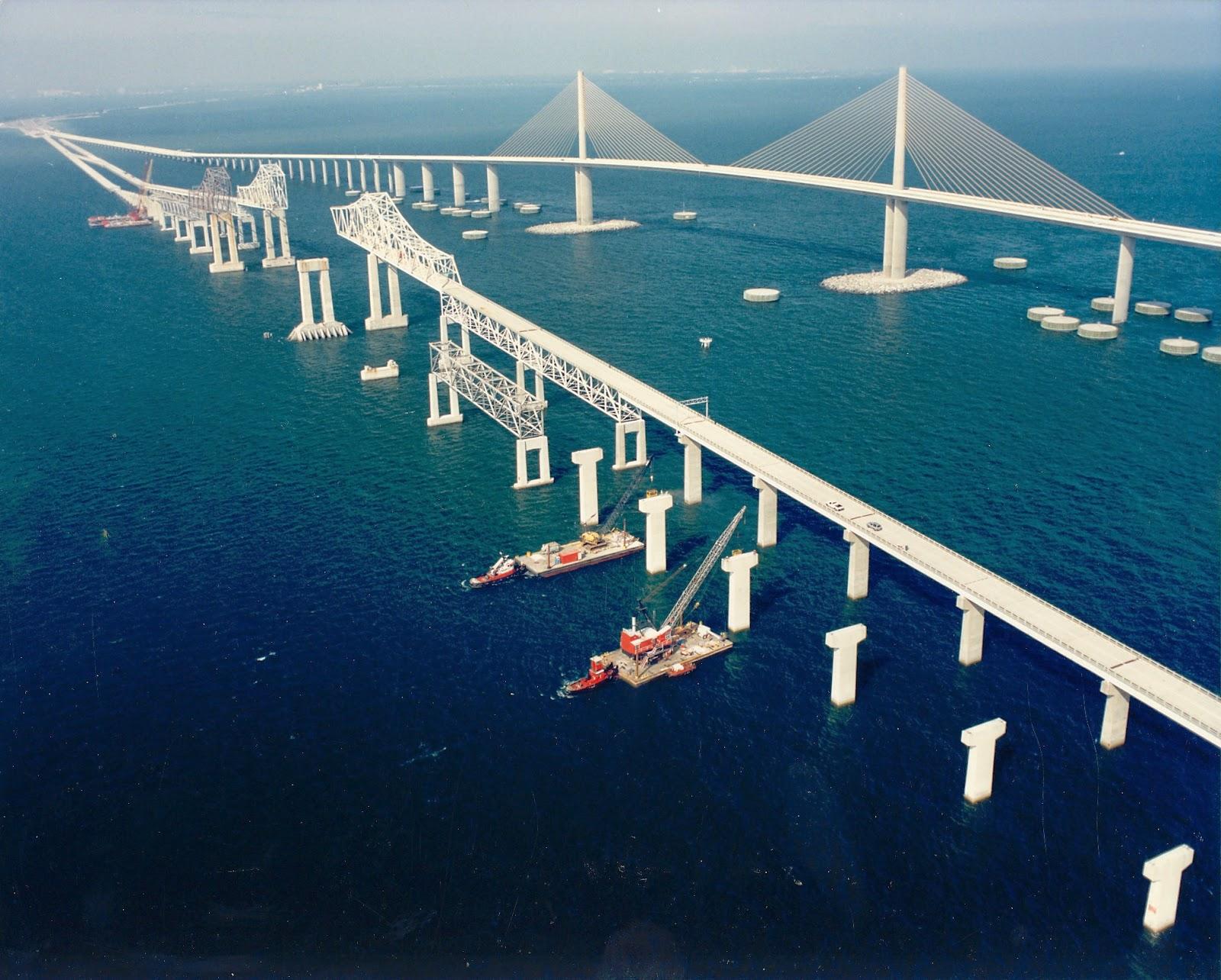 Famous bridge sunshine skyway bridge for Skyway fishing pier state park
