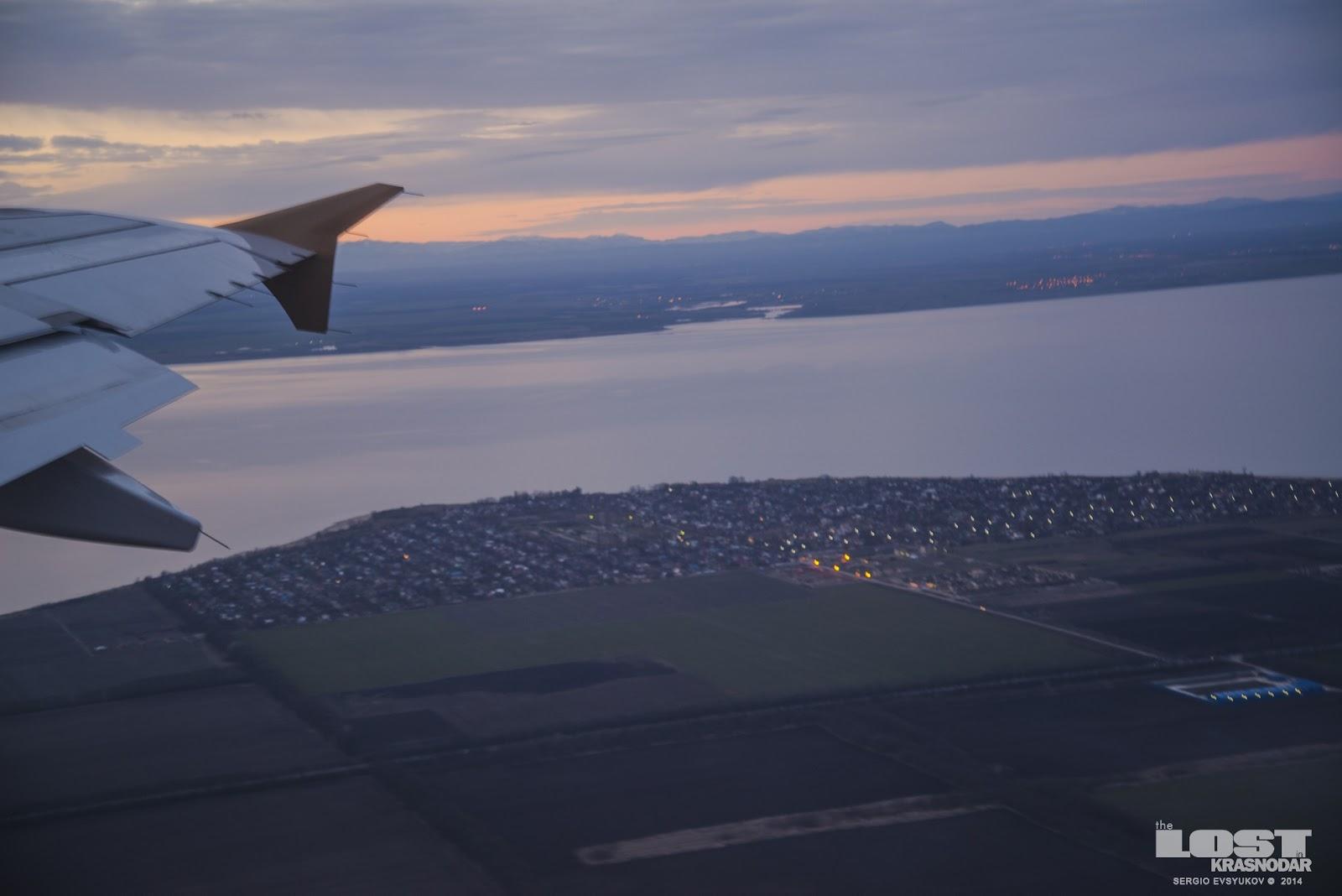 На самолете над Кубанью