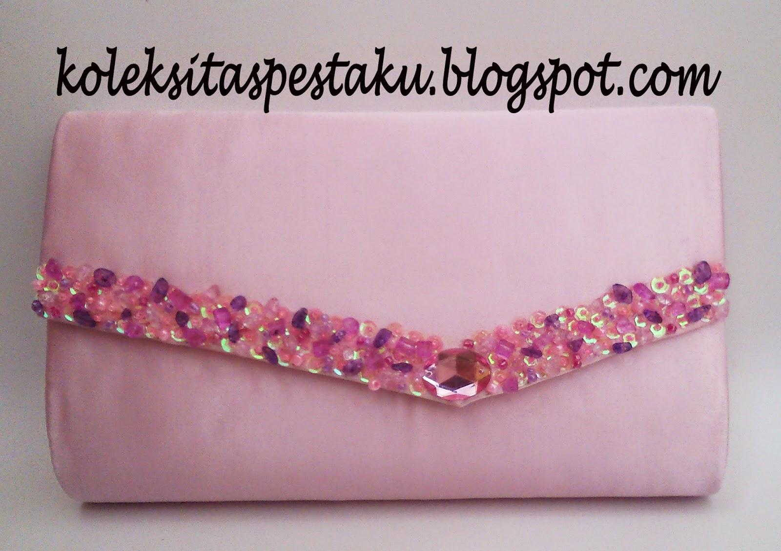 Tas Pesta Ready Kalem Pink Baby Cantik Elegant