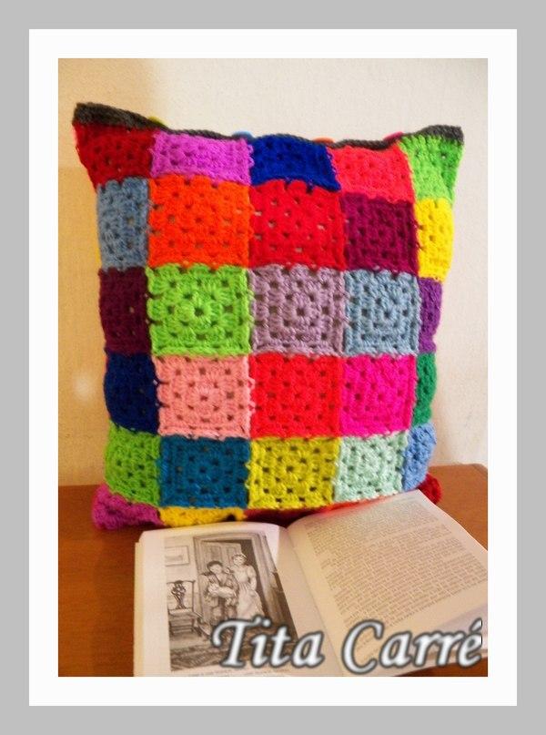 Capa de almofada de Mini squares coloridos