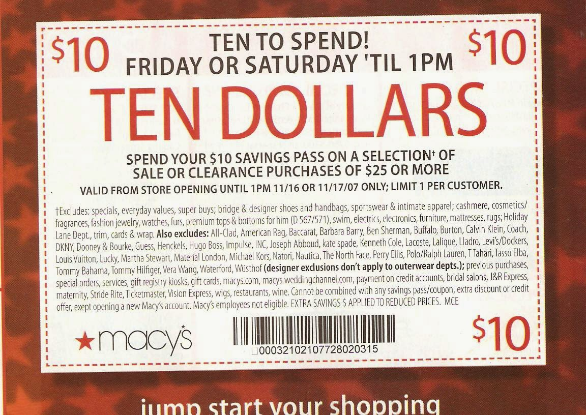 Macy discount coupons printable