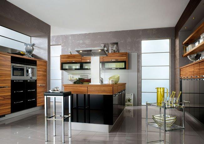 Black High Gloss Kitchen Design  Kitchen Solutions Kent   -> Kuchnia Grafitowo Drewniana