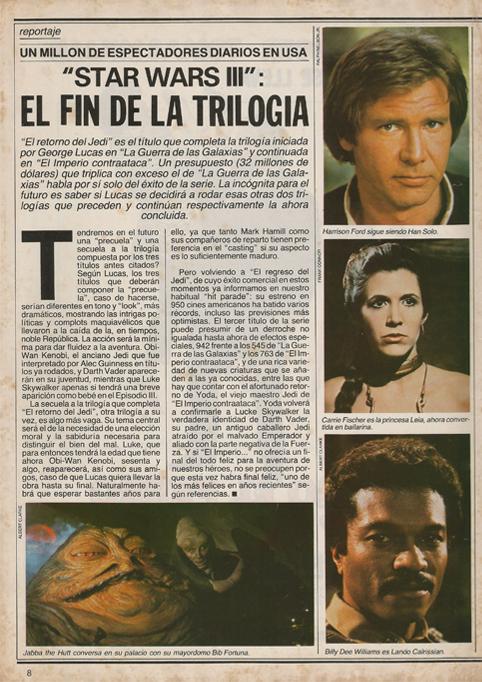 Artículo de la revista Fotogramas.