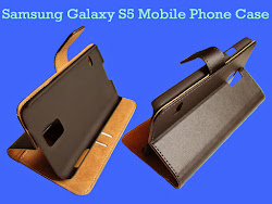 Genuine Leather Wallet / Stand Case for Samsung Galaxy S5  mobile phone