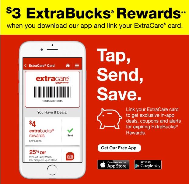 cvs deals 3 free extra bucks from app download deal ideas spend less shop more. Black Bedroom Furniture Sets. Home Design Ideas