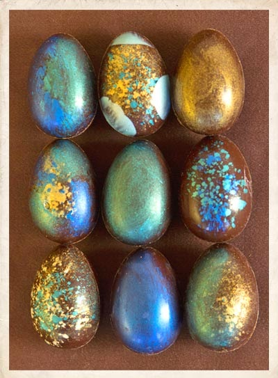 robin's egg chocolates from chef Holly Peterson