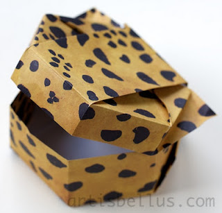 Origami Boxes: Cat Face Box, by Tomoko Fuse