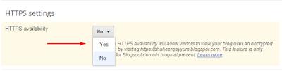 HTTPS option for Blogspot domain