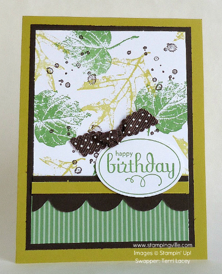 French Foliage Birthday Card