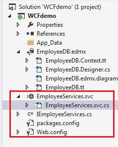 Create wcf service