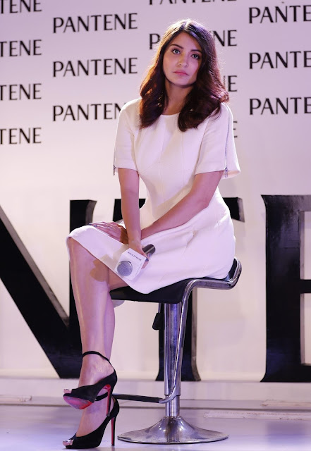 Anushka Sharma Super Hot Legs Show In a White Short Dress At Pantene Best Ever Launch Event