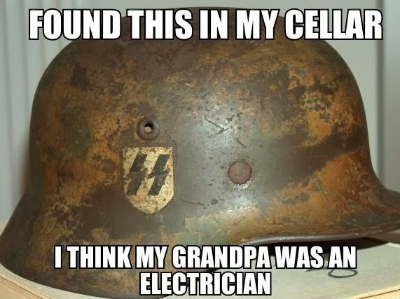 Think my grandpa was an electrician meaning answers to riddles