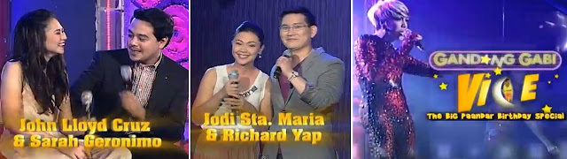 Gandang Gabi Vice March 31 2013 | Richard-Jodi, John Lloyd-Sarah